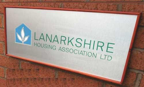 Lanarkshire Housing Association Signage